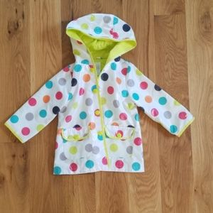 Carters polka dot raincoat